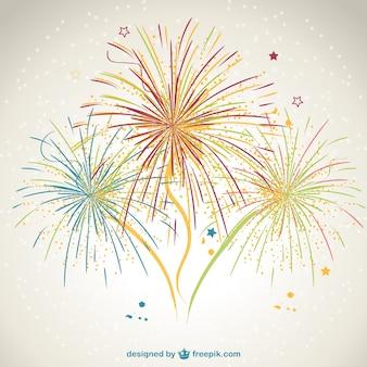 Disegno vettoriale di fuochi d'artificio