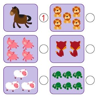 Disegno vettoriale di gioco di matematica per bambino