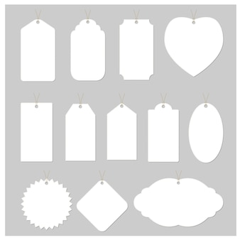 Disegno vettoriale di tag bianco