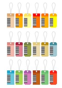 Disegno vettoriale di tag di carta