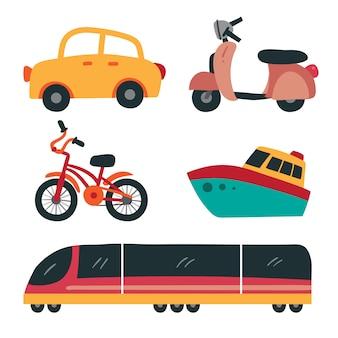 Disegno vettoriale di veicolo raccolta