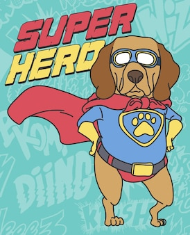 Disegno vettoriale disegnato a mano cane carino per la stampa t-shirt
