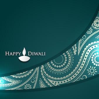 Disegno vettoriale diwali con spazio per il testo