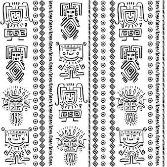 Disegno vettoriale modello con elementi tribali