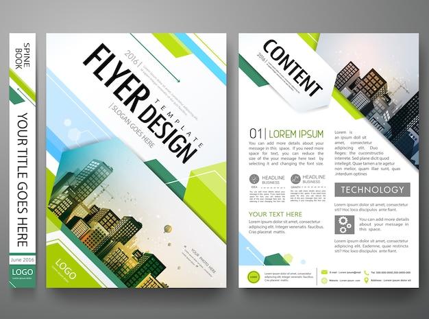 Disegno vettoriale modello di brochure