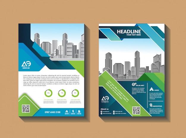 Disegno vettoriale per il catalogo e il volantino della rivista brochure layout di copertina