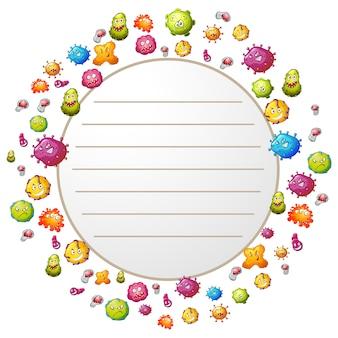Disegno virus sfondo