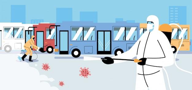Disinfezione del bus di servizio da parte di covid 19
