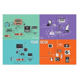 Dispositivi collezione colorata
