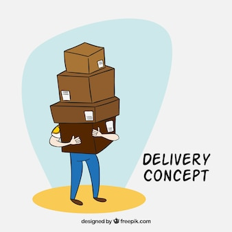 Dispositivo di consegna a mano con troppe scatole