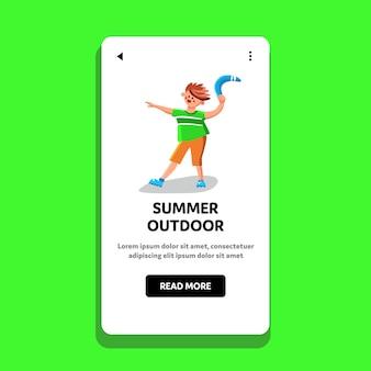Dispositivo di gioco estivo all'aperto tenere teenager