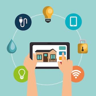 Dispositivo tablet che controlla casa intelligente