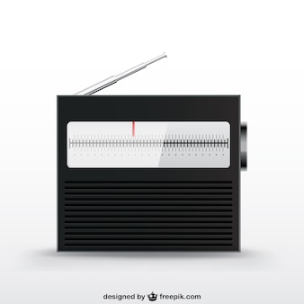 Dispositivo vintage radio vettoriale
