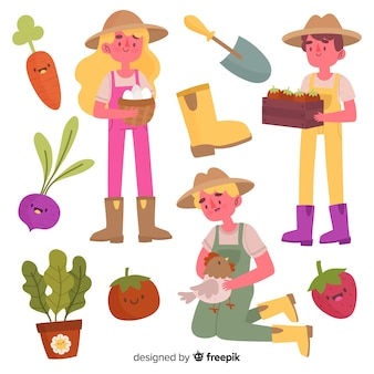 Disposizione degli elementi agricoli