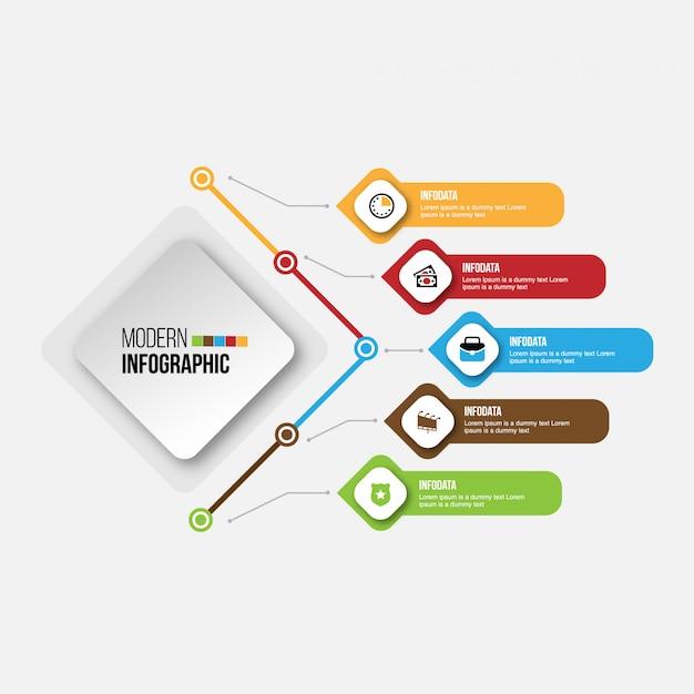 Disposizione di flusso di lavoro delle icone di vendita di progettazione di infographics di cronologia, diagramma, rapporto annuale