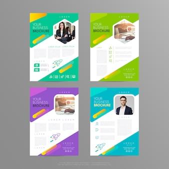 Disposizione di progettazione della copertura dell'opuscolo del modello dell'aletta di filatoio del manifesto