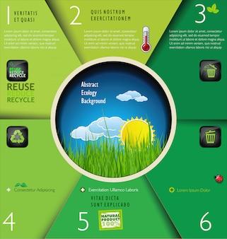 Disposizione di progettazione moderna di natura del sito web