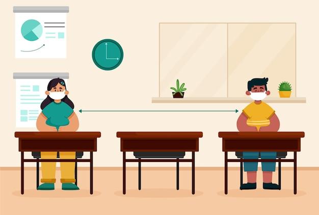 Distanziamento sociale a scuola