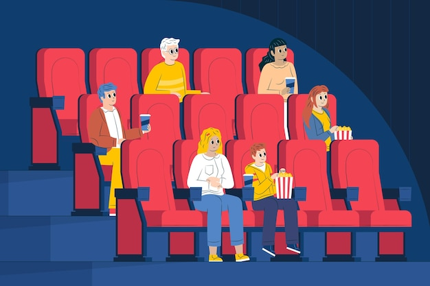 Distanziamento sociale nei cinema