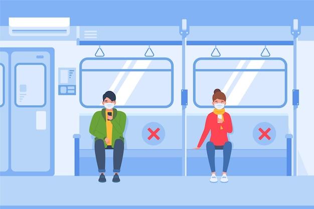 Distanziamento sociale nel trasporto pubblico