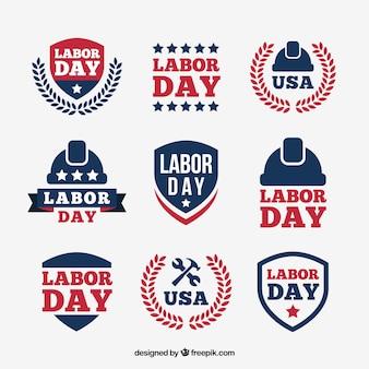 Distintivi americani set di giorno di lavoro