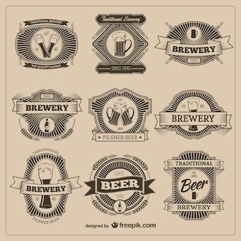 Distintivi birra vintage