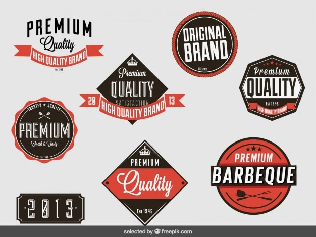 Distintivi collezione vintage di qualità premium