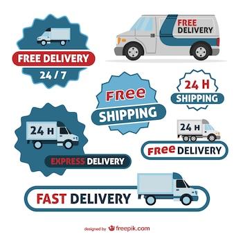 Distintivi consegna set gratuito