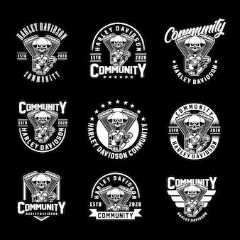 Distintivi del cranio della community hd