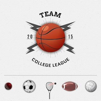 Distintivi della squadra ed etichette sportive