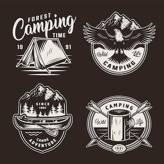 Distintivi di avventura estiva vintage