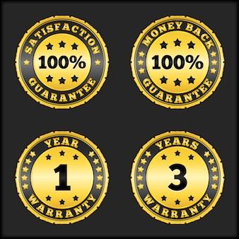 Distintivi di garanzia, illustrazione di vettore eps10