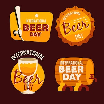 Distintivi di lettering giorno della birra internazionale