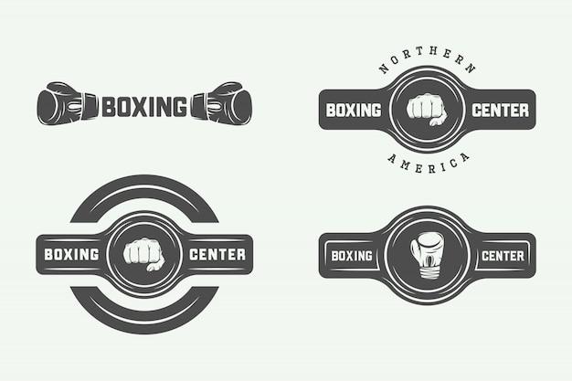 Distintivi di logo di boxe e arti marziali