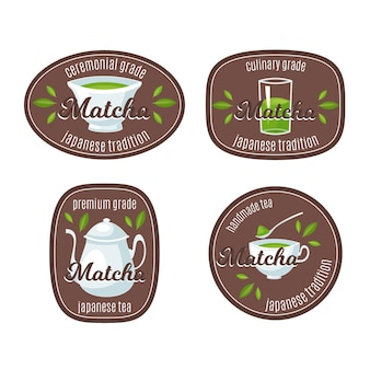 Distintivi di tè matcha
