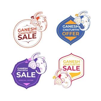 Distintivi di vendita di ganesh chaturthi