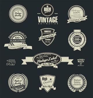 Distintivi ed etichette vintage retrò