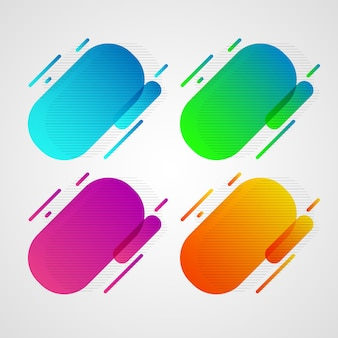 Distintivi geometrici al neon