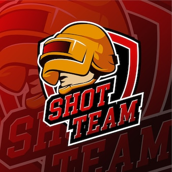 Distintivi logo esport shot gaming