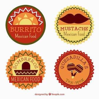 Distintivi messicano circolari