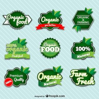 Distintivi premium organici set