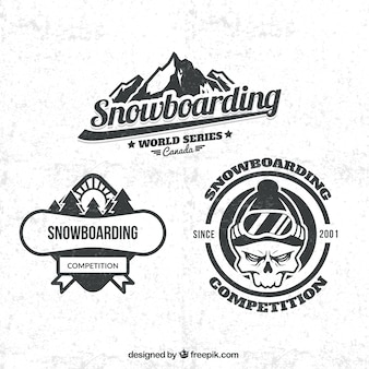Distintivi snowboard