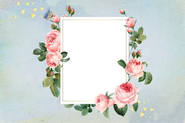 Distintivo con cornice floreale