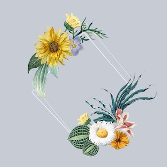 Distintivo cornice floreale
