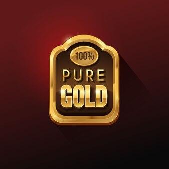 Distintivo d'oro lucido di qualità