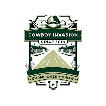 Distintivo da cowboy