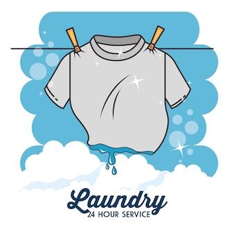 Distintivo dell'emblema logo lavanderia