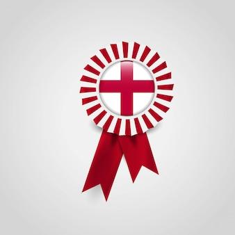 Distintivo dell'insegna del nastro della bandiera del regno unito dell'inghilterra