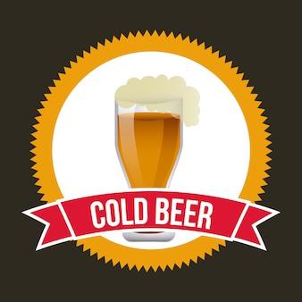 Distintivo della birra sul nero