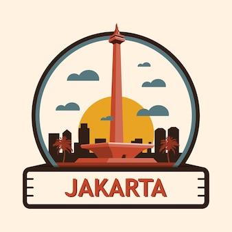Distintivo della città di giacarta, indonesia